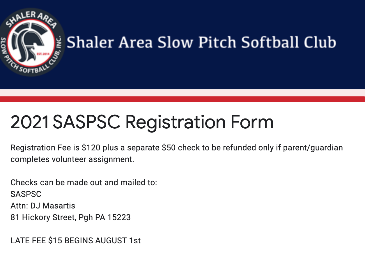 Online Registration Open!